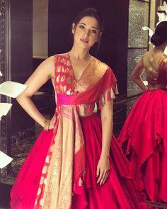 Beautiful Indian Girl Tamannaah Latest Photos In Orange Lehenga Choli Indian Designer Outfits, Indian Outfits, Designer Dresses, Stylish Dresses, Fashion Dresses, Lehnga Dress, Indian Gowns Dresses, Dress Indian Style, Indian Wear