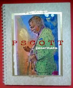 PSCOTT HAND-CRAFTED ONE-OF-A-KIND COLLAGE/PAINTED JOURNALS 7X8 RULED SHEETS OF 50 HARLEM MADE $25-300