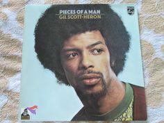 Gil Scott-Heron Pieces Of A Man Philips 6369 415 UK Vinyl LP Album