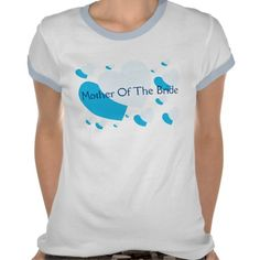 Mother Of The Bride Blue Hearts Tee Shirt