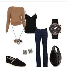 Cute combination! I'd wear it minus the jewelry! ;)