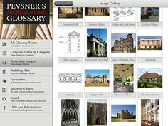 App Review: Pevsner's Architectural Glossary  highlighting the The Buildings of England survey of Britain's built environment compiled over several decades by the architectural historian Nikolaus Pevsner