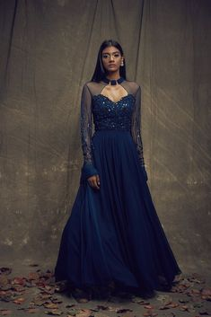 Wearing a blue bridal lehenga for your big day? These blue bridal lehengas will up your glamour quotient. The unique lehenga is in huge demand nowadays. Take cues from these designer lehenga. Designer Bridal Lehenga, Bridal Lehenga Choli, Designer Gowns, Blue Lehenga, Lehenga Saree, Frock For Women, Indian Party Wear, Indian Wear, Lehenga Collection