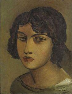 André Derain - Young Woman Head, c.1920
