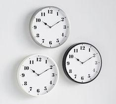 Standard Wall Clocks #potterybarn