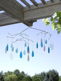 Raindrop Glass Mobile - Handcut Glass | Gardener's Supply