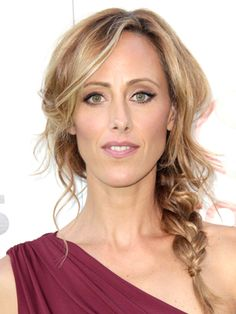 Slightly messy side braid and wispy bangs - Kim Raver Hairstyles - October 15, 2011 - DailyMakeover.com