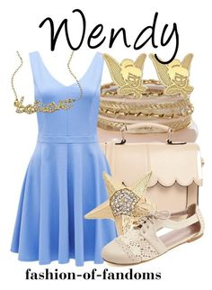 Wendy by fofandoms on Polyvore featuring polyvore, fashion, style, Forever New, Charlotte Russe, ASOS, Blu Bijoux, Disney and clothing