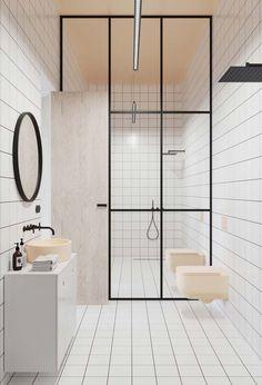 Trendy black and white bathroom luxury interior design Ideas White Bathroom Designs, Rustic Bathroom, Minimalist Bathroom, Bathroom Design Black, Black Bathroom, Bathroom Design Luxury, Luxury Bathroom, White Bathroom, Luxury Interior Design