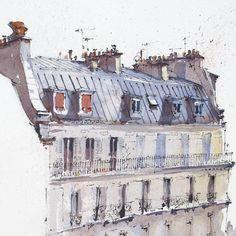 @hillkurtz в Instagram: «Paris rooftops in the morning sun. #paris #paint #painting #sketch #drawing #sketching #sketchbook #travelbook #arch_more #archisketcher #sketchaday #sketchwalker #sketchcollector #artbook #artjournal #traveldiary #topcreator #usk #urbansketchers #urbansketch #скетчбук #скетч #скетчинг #pleinair #aquarelle #watercolorsketch #usk #architecture