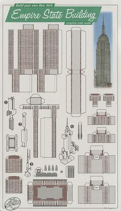 Empire State Building, New York Paper Architecture, Architecture Concept Drawings, New York Papers, 3d Modelle, Paper Towns, Paper Dolls Printable, Paper Houses, Cardboard Crafts, Paper Folding