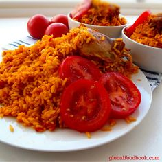 """BENACHIN RICE. Benachin rice also known as Jollof rice is a popular West African rice dish notable for it's reddish characteristic  colour with super delicious taste. You can't beat the taste of  benachin rice """"jollof rice"""" when prepared appropriately. Try out the recipe and you will enjoy it..  ."""