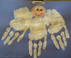 DIY Angel Handprint Craft For Kids - Crafty Morning Christmas Art Projects, Christmas Activities For Kids, Preschool Christmas, Kids Christmas, Holiday Crafts, Diy Angels, Angel Crafts, Handprint Art, Church Crafts
