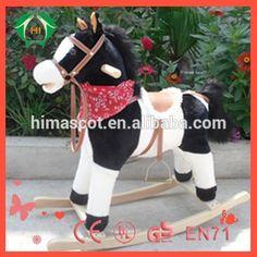 HI CE Kid riding horse toy/kids wooden rocking horse