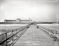 From shorpy.com - the Hotel Continental - Atlantic Beach, Florida. Flagler's massive wood-frame hostelry opened in 1901 and burned in 1919