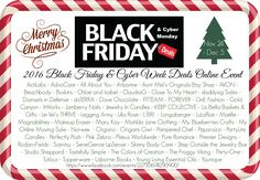 🎄 No need to get up early & stand in line for the best deals this Black Friday, Shop Small Saturday, Cyber Monday or Cyber week! We have many wonderful gifts, stocking suffers or just goodies for yourselves. ;) 🎅  https://www.facebook.com/events/227356174290900/
