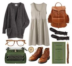 """Untitled"" by hanaglatison ❤ liked on Polyvore featuring Polder, Grafea, LIST and Garrett Leight"
