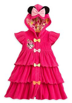 Amazon.com: Disney Store Little Girls' Minnie Mouse Swim Cover-Up: Clothing