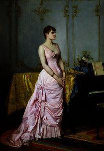 portrait of rose caron, auguste toulmouche