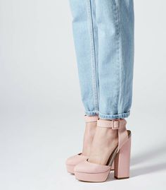 Topshop - SHELLY pink cutout platform