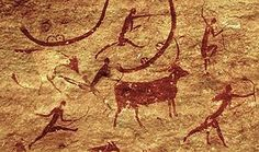 Neolithic rock art in Tassili n'Ajjer National Park, Sahara, Algeria. Image credit: Patrick Gruban, Munich, Germany / CC BY-SA Art Pariétal, Art Rupestre, Deserts Of The World, Statue, Ancient Art, Ancient Aliens, Rock Art, Traditional Art, Sculptures