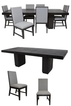 The Donovan Collection by Elements presents a contemporary mood with impressive style elements. Solid Acacia wood is finished in a deep black to give you dining furniture that will last and stay beautiful for years. If you're looking for a stylish dining set with a contemporary flair to complete your dining room furniture, the Donovan Collection is a great choice. Purchase online or in-store at Great American Home Store in Memphis, TN, and Southaven, MS. #dining #table #home #decor #diningroom