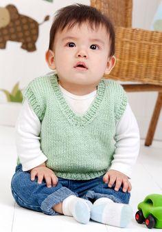 E' facile ,lo so, magari però qualcuna non sapeva come si fanno le dim del … Baby Knitting Patterns, Knitting For Kids, Baby Patterns, Free Knitting, Knitting Projects, Baby Boy Vest, Kids Vest, Knit Vest Pattern, Newborn Outfits