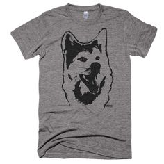 Akita Inu Tri Blend T Shirt, Personalized T-Shirt, Dog Owner Gift, Dog Lover Gift, Boyfriend Tshirt, Girlfriend Tshirt, Unisex Adult Tee by MONOFACESoADULT on Etsy