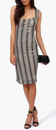 On The Town Dress in Beige