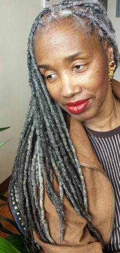 Gray hair + gray locks: Photo and hair care by Shante Fagans.