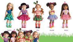 "**NEW** American Girl Wellie Wishers COMBO OFFER of FIVE 14.5"" Dolls #AmericanGirl #Dolls"