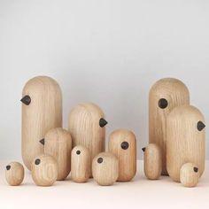 Norman Copenhagen, Copenhagen Design, Wood Turning Projects, Wood Projects, Design Online Shop, Wooden Bird, Wooden Animals, Blog Deco, Little Birds