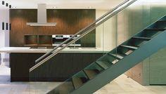 Vila Lichtenstein | realizácie kuchyne Eggersmann Villa, Wood Veneer, Stairs, Contemporary, Kitchen, Home Decor, Stairways, Cuisine, Stairway
