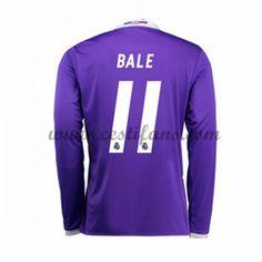 Real Madrid Fotbalové Dresy 2016-17 Bale 11 Venkovní Dres Dlouhým Rukávem