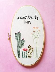 Cactus Embroidery. Embroidery Hoop by KimArt. Cacti Embroidery. Cactus Art. Gift for Her. Funny Embroidery, Arizona Desert. Cactus Lover.