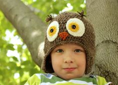 Crochet Owl Hat - Free Pattern by Micah Makes Apple hat and many more.