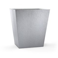 Labrazel Conda Silver Waste Basket (12.470 RUB) ❤ liked on Polyvore featuring home, bed & bath, bath, bath accessories, frontgate, python pumps, snake skin pumps and colored pumps