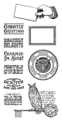 Graphic45 Cling Stamps-RARE ODDITIES #2 scrapbooking Set of (10) Stamps