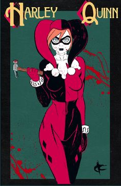 Another convention print! I wanted to do a Harley Quinn to go with the Poison Ivy I did.  -Justin