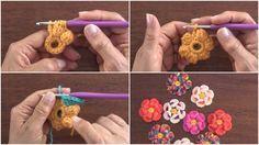 Bobble Crochet 3D Flower - Tutorial