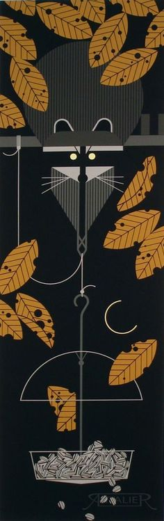 Charles/Charley Harper - RACCSNACK - Hand Signed - Ltd Ed #410 - raccoon art #Minimalism