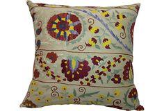 Pillow w/ Vintage Suzani  Love it.
