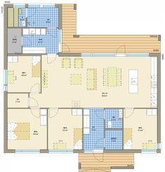 Deko 166 avara talopaketti House Plans, Floor Plans, House Design, Flooring, How To Plan, Building, Inspiration, Design Ideas, Home Decor