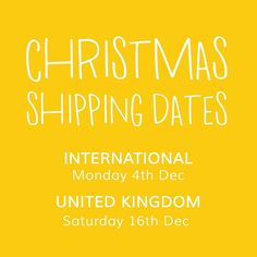 Morning  A little PSA to let you know that if you would like some Sunshine in time for Christmas then all orders must be placed by 5pm on the dates listed below pretty please... PINS PATCHES & JEWELLERY   INTERNATIONAL : Mon 4th Dec  UK : Sat 16th Dec  The online shops will remain open over Christmas but please bear in mind that any orders placed after MIDDAY on Fri 22nd December WILL NOT be processed until Thursday 4th January 2018.  THANK YOU! runs off singing Christmas songs
