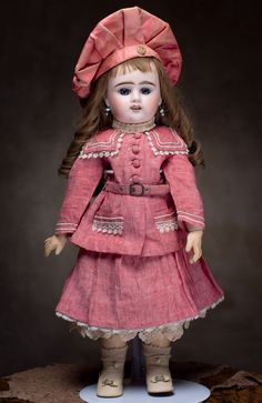 "21"" (54 cm.) Antique French Bisque Bebe Doll by Denamur from respectfulbear on Ruby Lane"