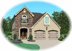 MonsterHousePlans - 6-1621 House Plans 3 Bedroom, Dream House Plans, French Country House Plans, French Country Style, Southern Cottage, Monster House Plans, Cottage Style Homes, European House, House Design