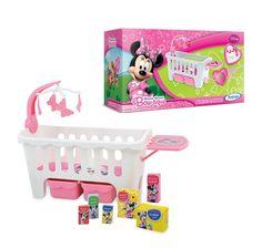 1851.0 - Berço Minnie Mouse Bow-tique Disney | Berço com móbile musical para ninar e porta coisas do bebê. | Faixa etária: +3 anos | Medidas: 55,5 x 30 x 30,7 cm | Jogos e Brinquedos | Xalingo Brinquedos | Crianças