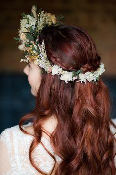 Flower Crown Bride Bridal Dried Accessory Blue Gold Luxe Victorian Wedding Ideas http://www.francescarlisle.co.uk/
