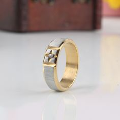 Find More Rings Information about Fashion Jewelry wire  drawing 316L Stainless Steel Ring Silver Gold  Zircon Ring Wedding Rings Engagement Rings,High Quality ring base,China ring gag Suppliers, Cheap ring one from Chinese Jewelry Factory,Wholesale From Yiwu China on Aliexpress.com