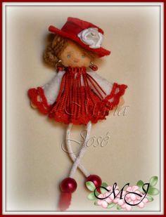 Muñeca de fieltro...flamenca